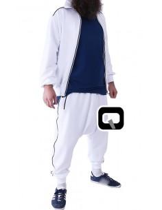 Survêtement qaba'il zip blanc