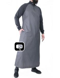 Qamis Qaba'il long manches jogging gris foncé