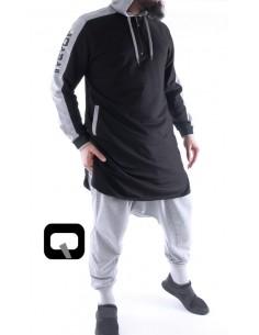 Qamis Qaba'il Jogging court Noir