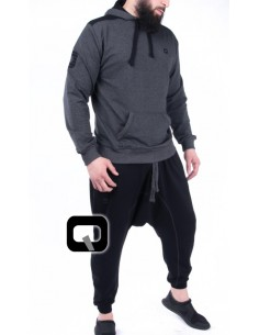 ensemble jogging qaba'il noir / anthracite