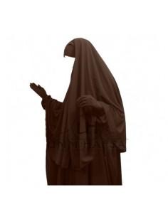 hijab /cape marron