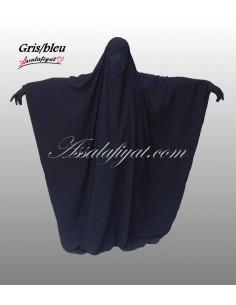 Jilbab saoudien Assalafiyat Gris