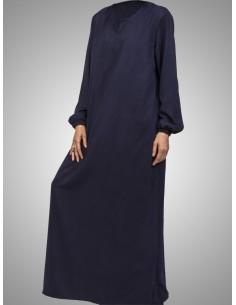 Abaya bleu