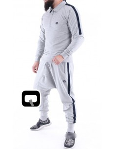 ensemble jogging qaba'il shadow gris