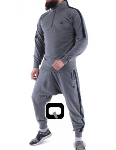 ensemble jogging qaba'il shadow gris anthracite