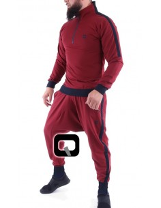 ensemble jogging qaba'il shadow rouge