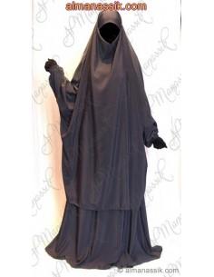 Jilbab al manassik gris anthracite