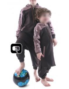 Qamis jogging enfant marron