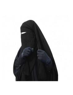 Niqab à clips umm hafsa 1 m 60 noir
