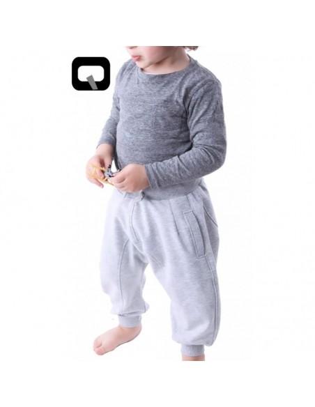 Sarouel Qaba'il-Unit Enfant gris clair