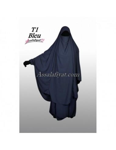 Jilbab 2 pièces Assalafiyat Bleu