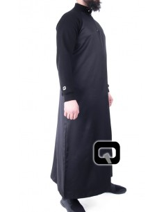 Qamis Qaba'il long manches jogging noir
