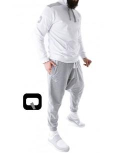ensemble jogging qaba'il blanc / gris