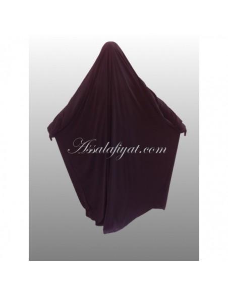 Jilbab saoudien Assalafiyat Prune
