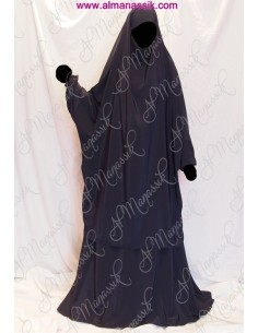 Jilbab al manassik bleu nuit