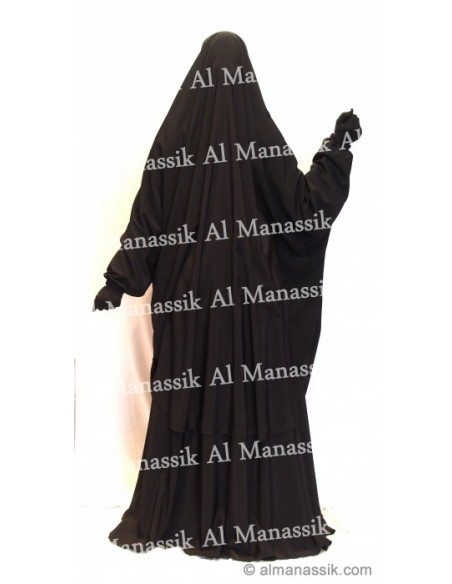 Jilbab 2 pièces al manassik noir
