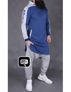 Qamis Qaba'il Jogging Court Bleu