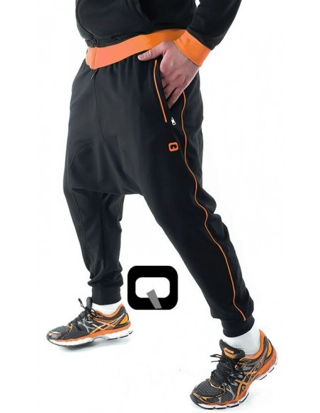 Saroual qaba'il noir bande orange