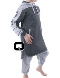 Qamis jogging enfant gris anthracite