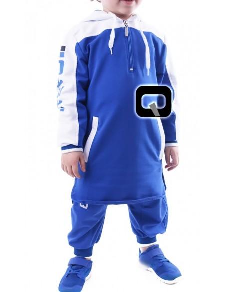 Qamis jogging enfant bleu roy