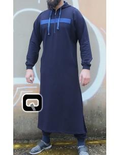 Qaamis Jogging Qaba'il Vortex Bleu Indigo