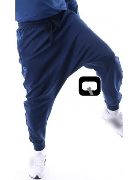 Sarouel Qaba'il bleu bandes bleues