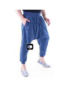 Saroual jogging qaba'il bleu indigo