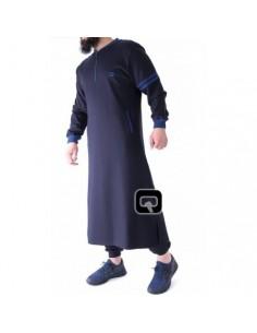 Qamis jogging qaba'il roadster bleu nuit