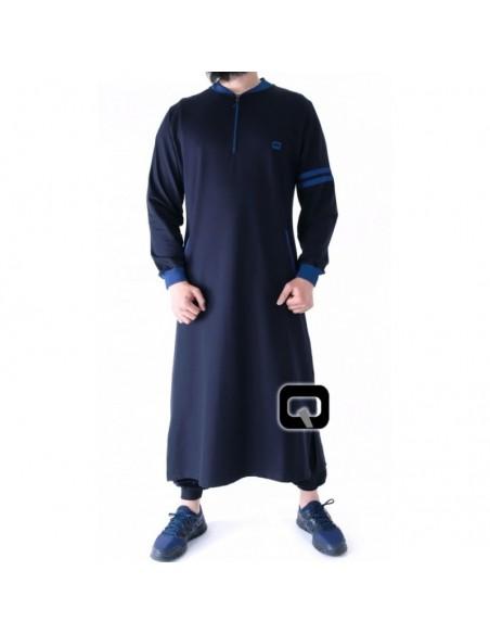 Qamis jogging qaba'il raodster bleu nuit