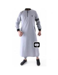 Qamis jogging qaba'il roadster gris clair