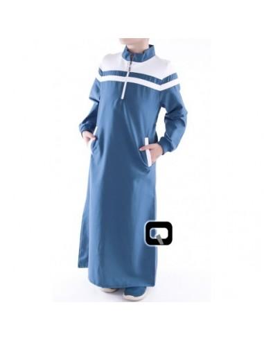 Qamis Enfant Qaba'il Classique Bleu Indigo
