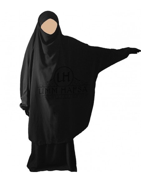 Jilbab Umm Hafssa 2 Pièces Classique Noir