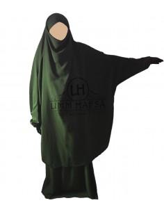 Jilbab Umm Hafsa 2 Pièces Classique Kaki