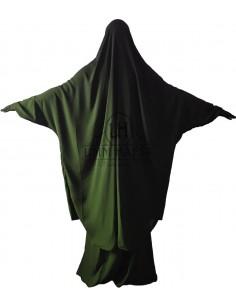 Jilbab Umm Hafssa 2 Pièces Classique Kaki