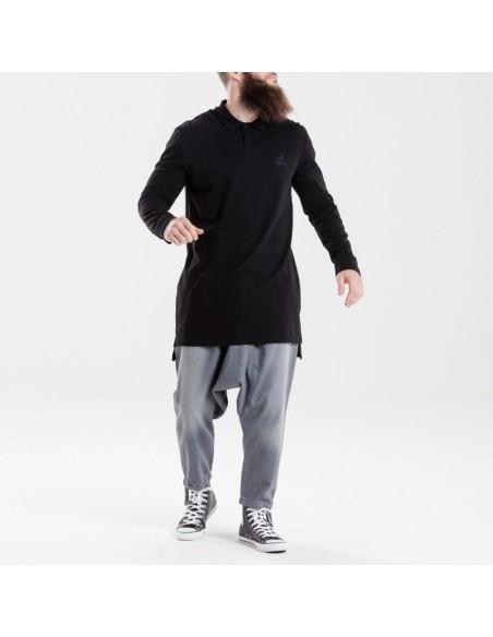 Polo DC jeans Manches Longues Noir 2018