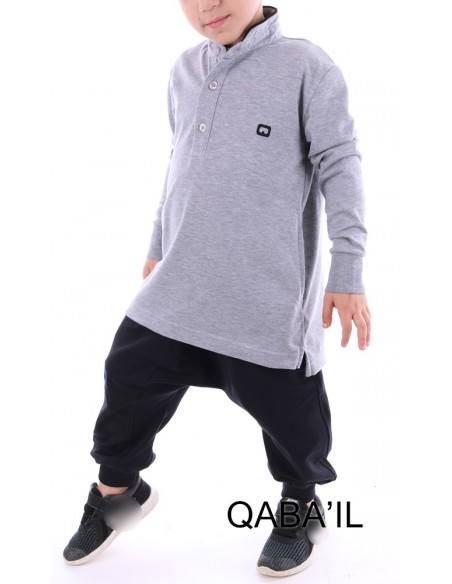 Polo Qaba'il Enfant Gris