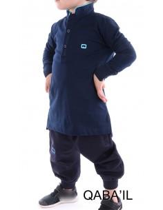 Polo Qaba'il Enfant Bleu Nuit
