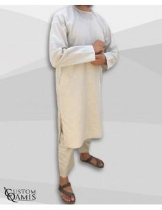 Qamis Imad Beige -Custom Qamis