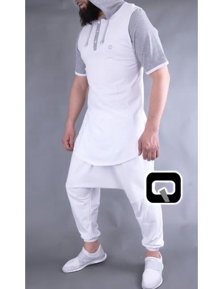 Tee Shirt Qaba'il Manches Courtes Avec Capuches