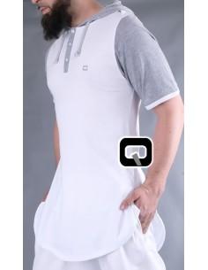 Tee Shirt Qaba'il Manches Courtes Avec Capuche