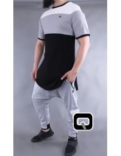 Tee Shirt Qabail Gris et Noir