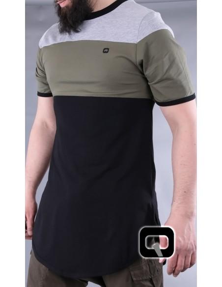 Tee Shirt Qabail Noir et Kaki