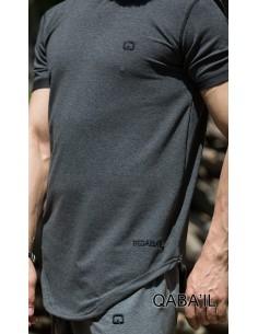 Tee Shirt Nautik Anthracite -Qabail