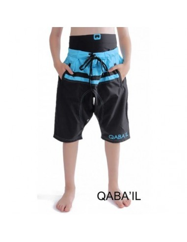 Sarouel de Bain Junior Noir et Bleu-Qaba'il