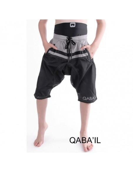 Sarouel de Bain Junior Noir et Gris-Qaba'il