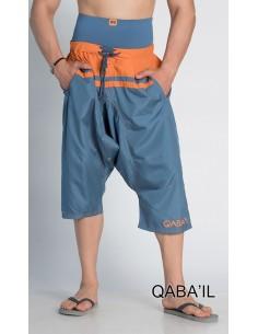 Sarouel de Bain Bleu et Orange-Qaba'il