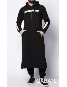Qamis Vortex II Noir-Qaba'il