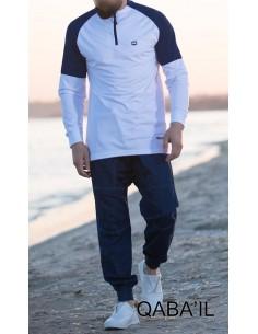 Sweat Longline Blanc -Qaba'il