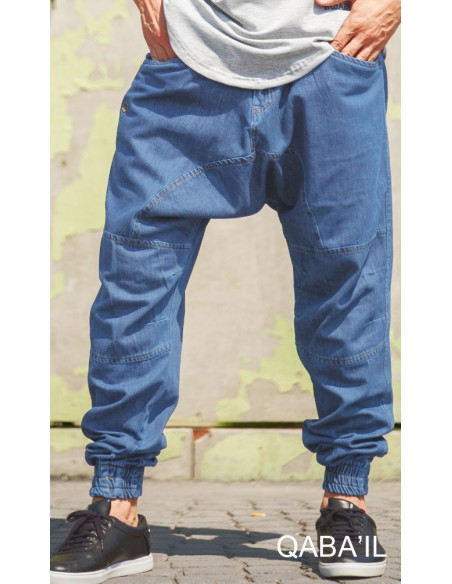 Sarouel Jeans Next Bleu Clair -Qaba'il
