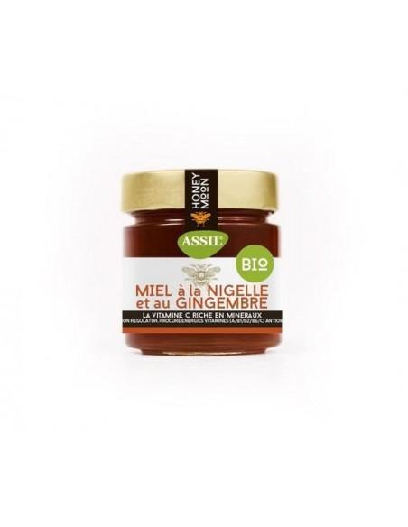 Miel à La Nigelle et Gingembre Bio 350g